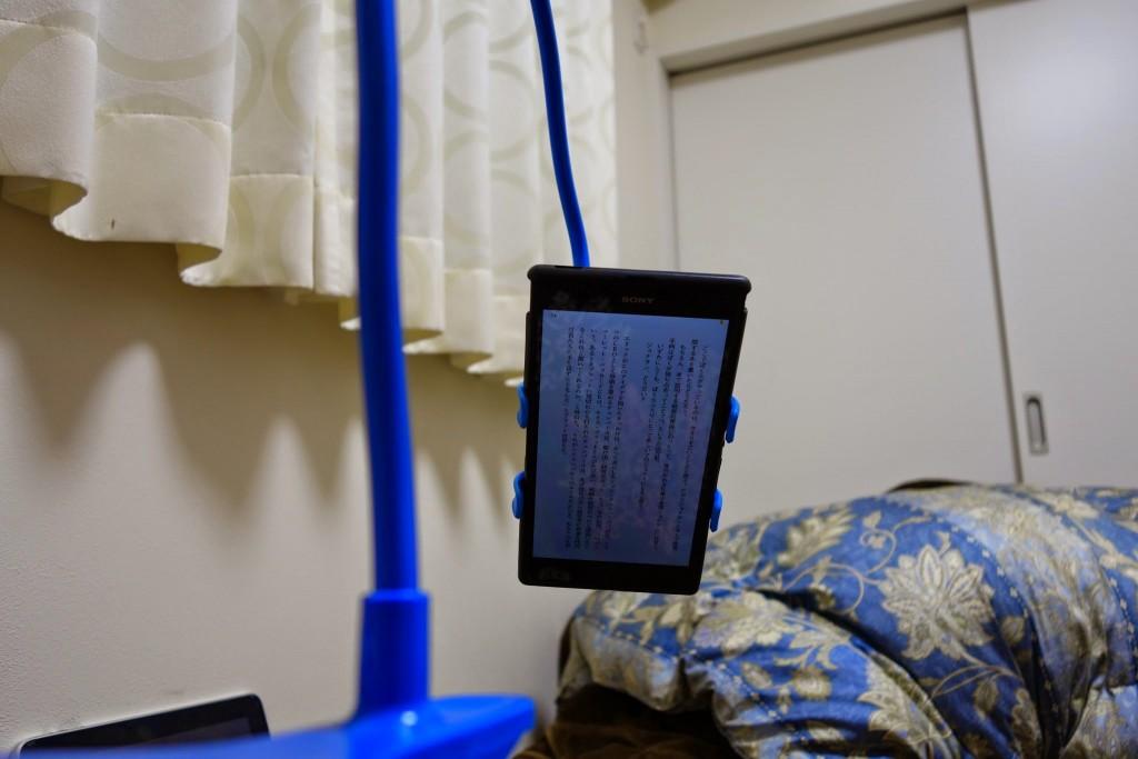 クリップタイプのタブレット対応モバイルホルダースタンドをレビュー