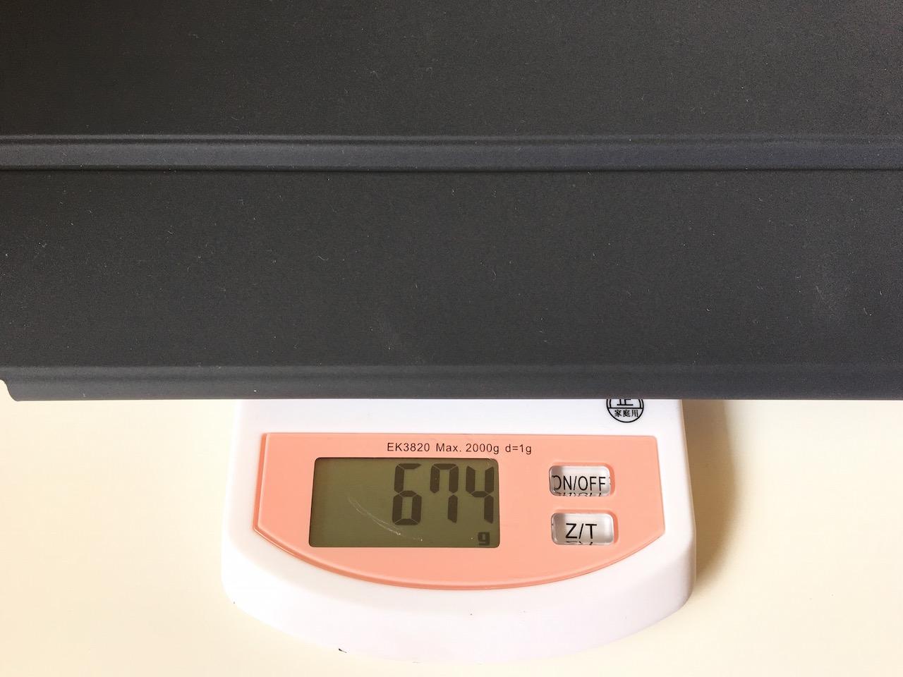 SmartKeyboard装着時の気になる重量は