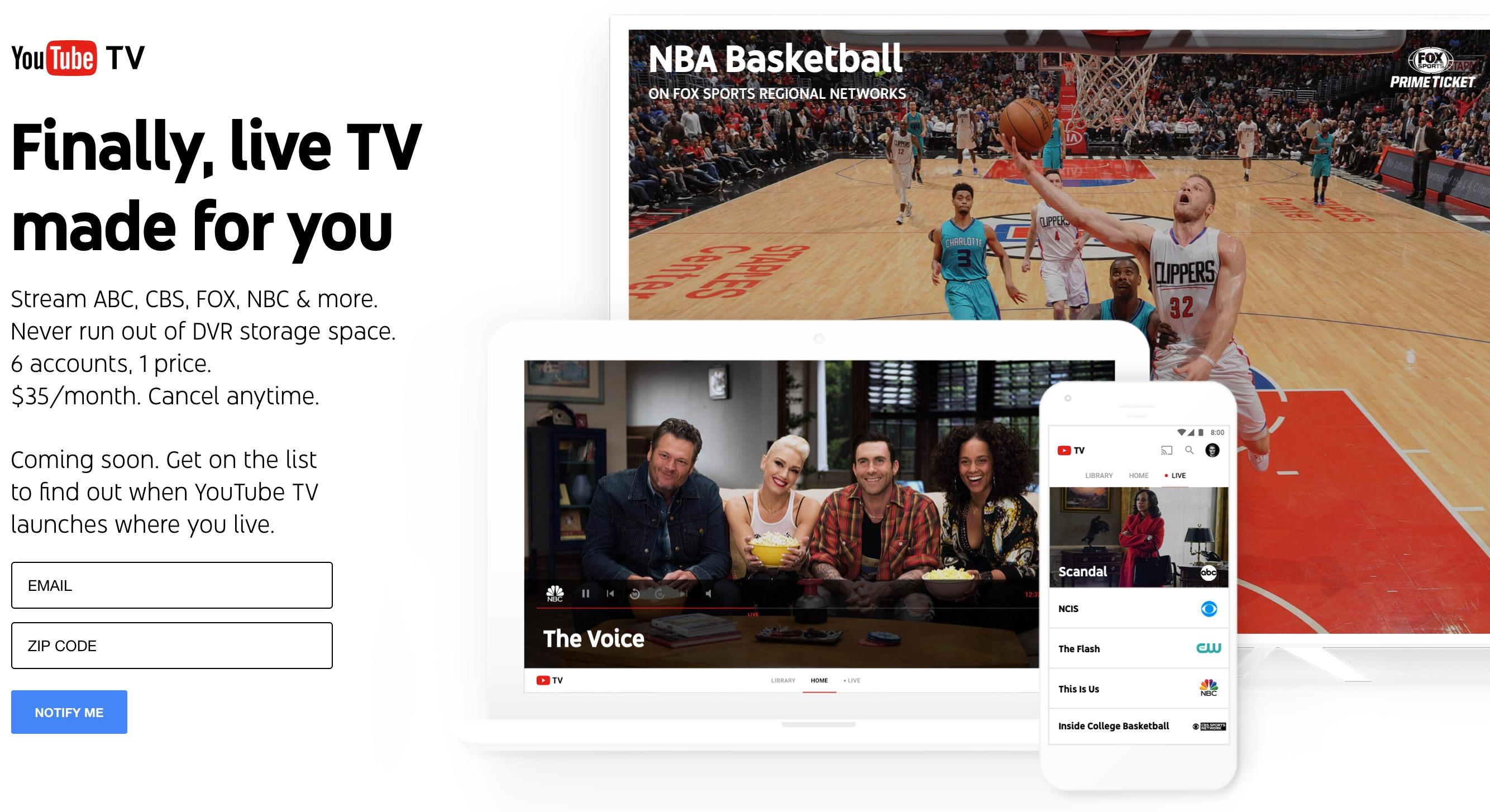 Googleが発表したYouTubeTVがヤバすぎる!もうテレビもハードディスクもいらなくなるな・・・