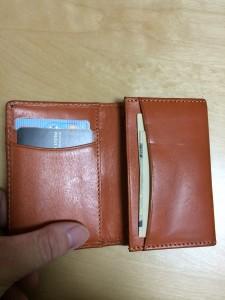 名刺入れを財布として使用