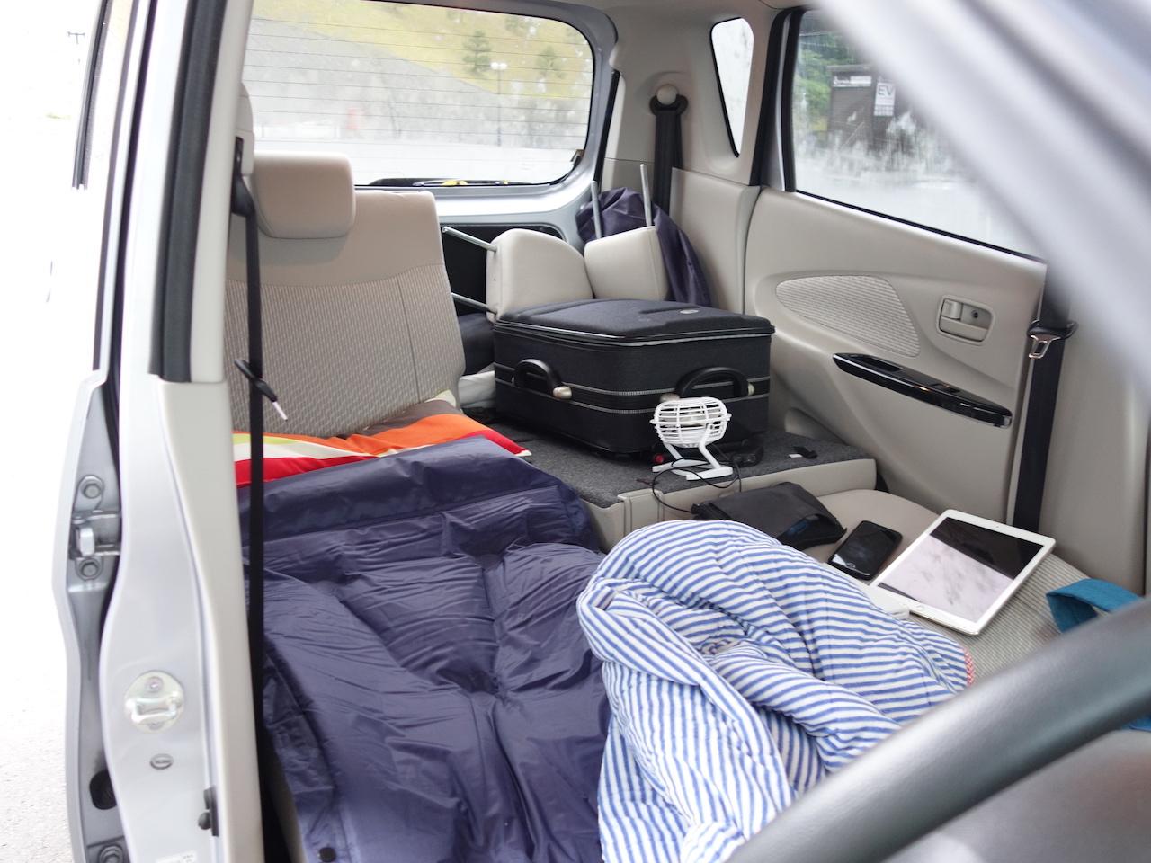 初めての車中泊で困ったことは蚊!他にも欲しいものがたくさん出てきた