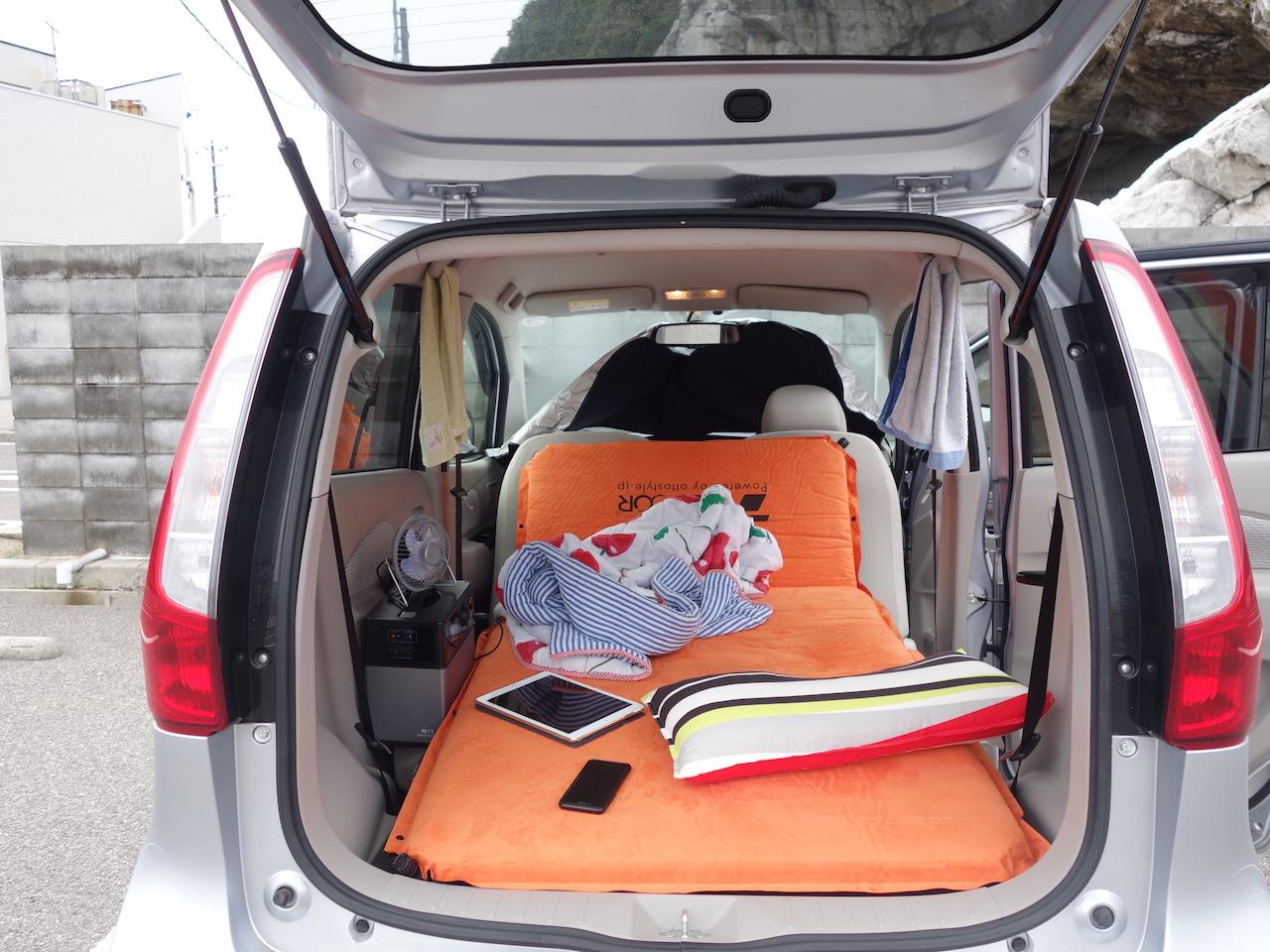 軽自動車でも車中泊できるぞ!日産デイズの車中泊スタイルはコレで決まり!?