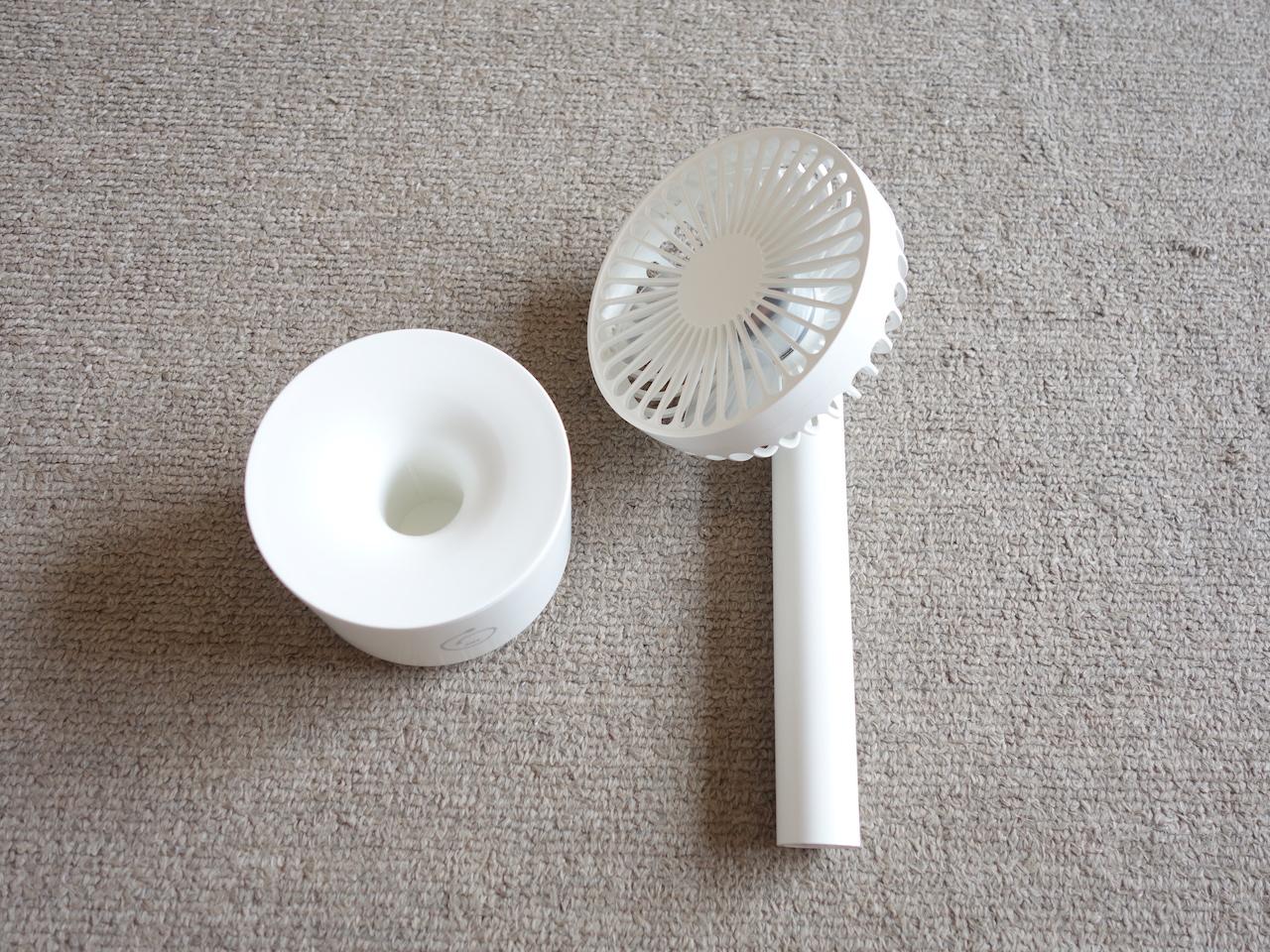 バッテリー駆動の充電式手持ち扇風機が便利過ぎて安心して夏を越せそう