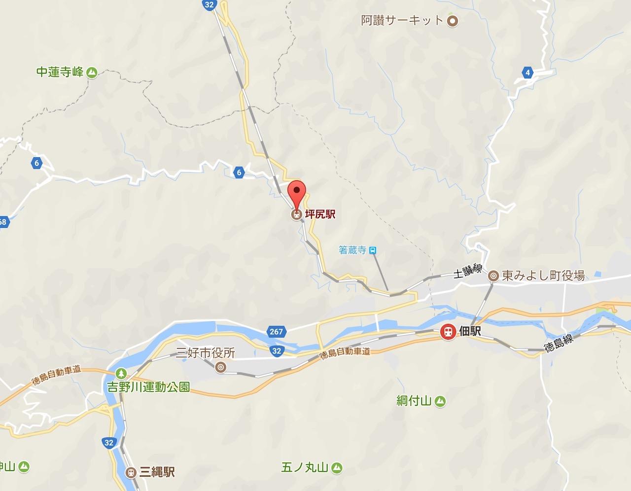 琴平から徳島へ!伝説の秘境駅「坪尻駅」で見事なスイッチバック停車を見た