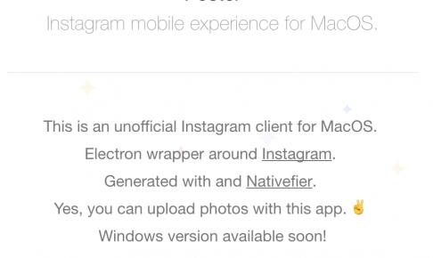 超おすすめ!Macから直接Instagramへ投稿できるアプリを見つけた!