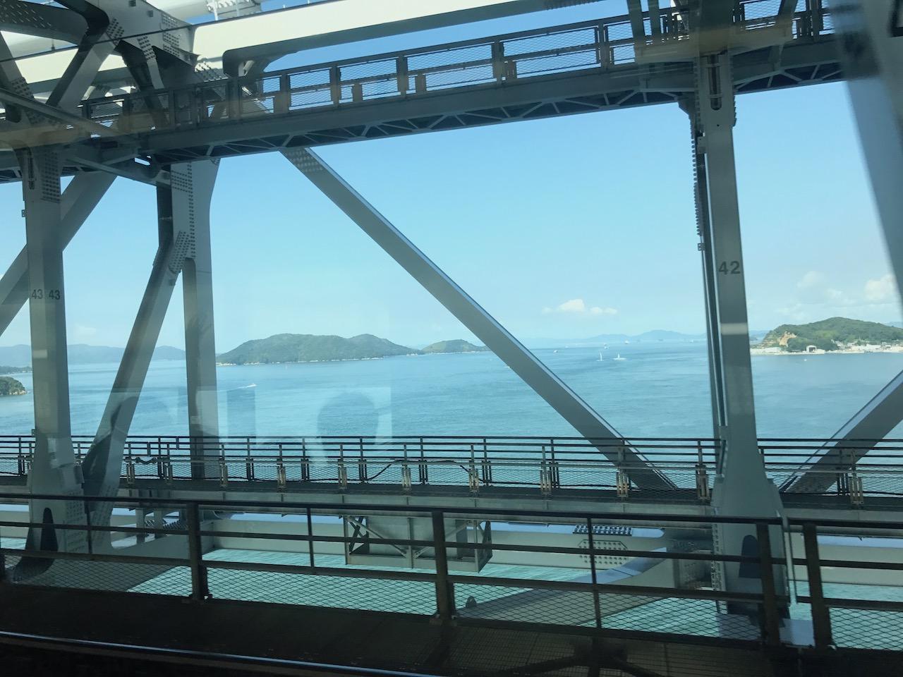 青春18きっぷで瀬戸大橋渡って四国行ってきました!快速マリンライナーで海の上通過