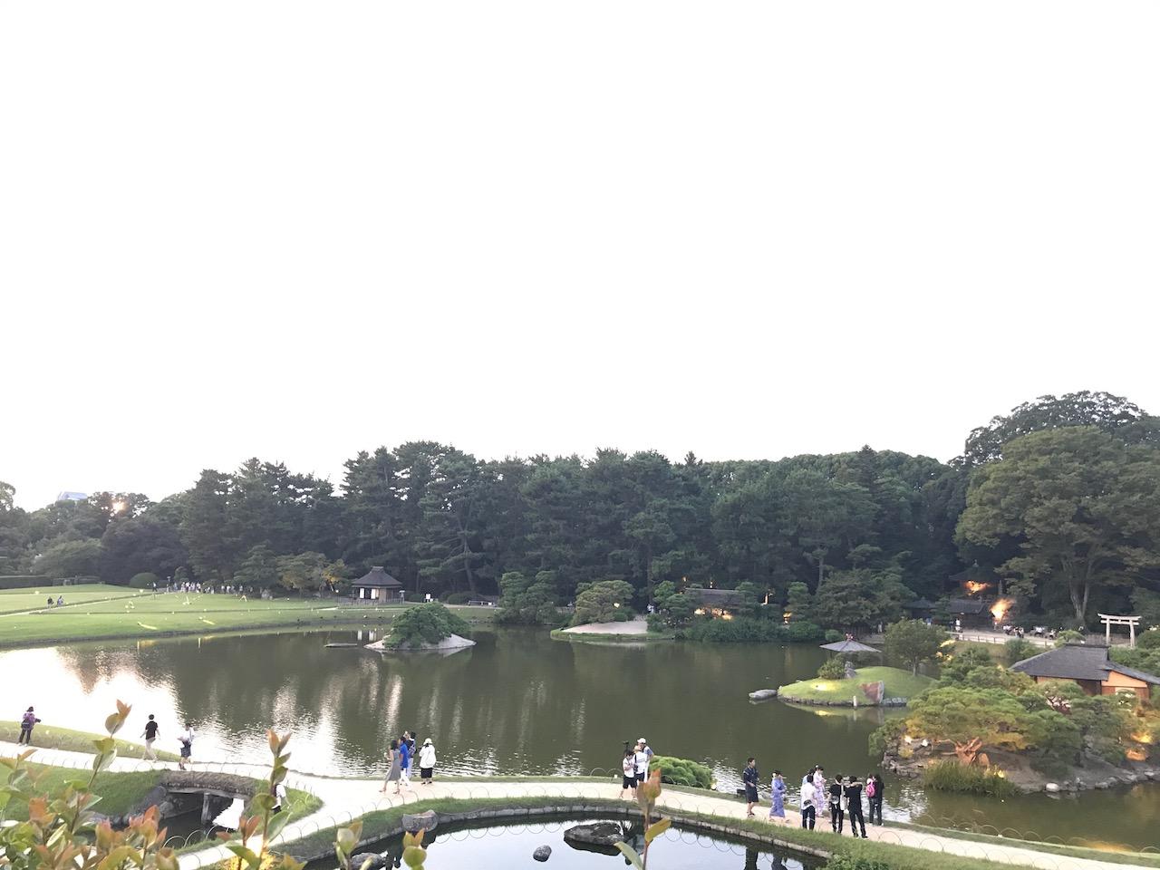岡山城からの後楽園が最高!こんなに素敵な庭園は兼六園以来だ!